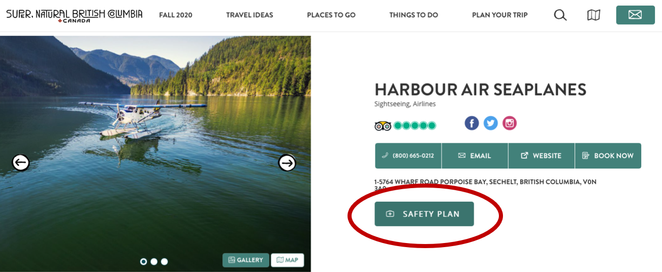 HelloBC.com Safety Plan Feature