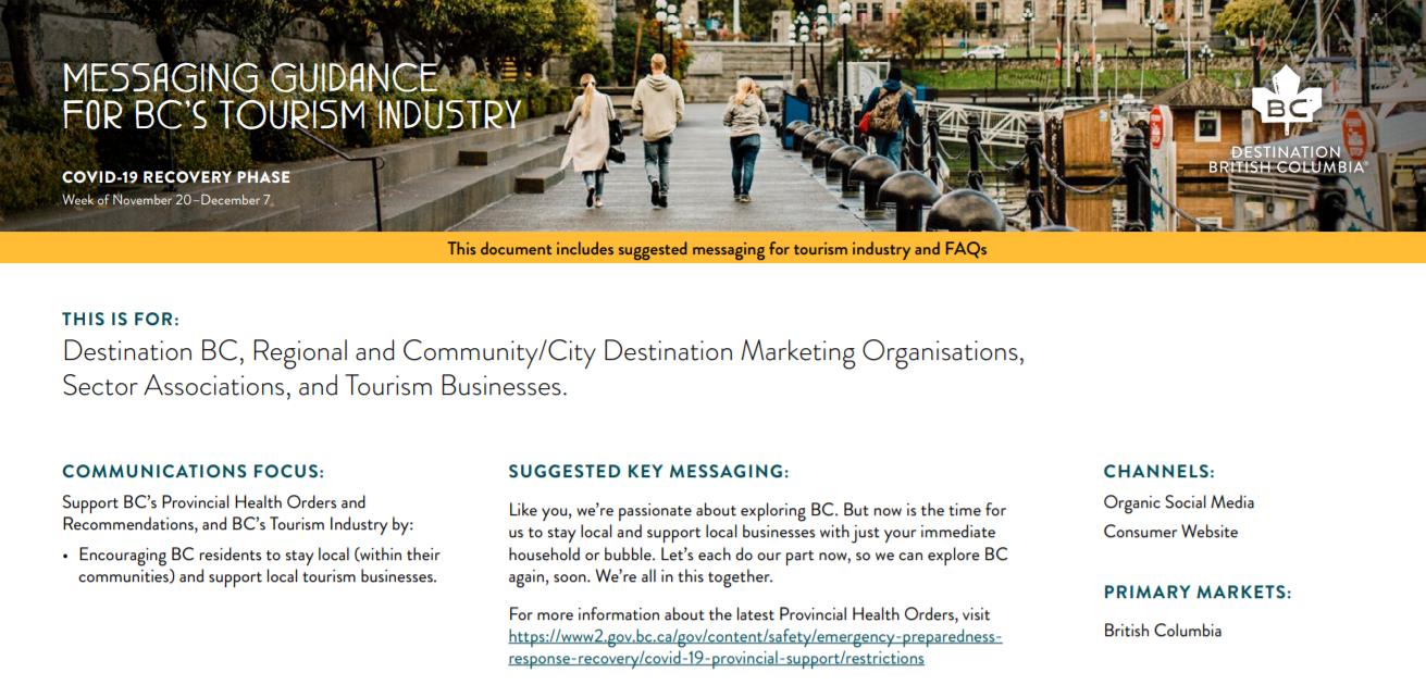 DBC November 20-December 7 Messaging Guidance