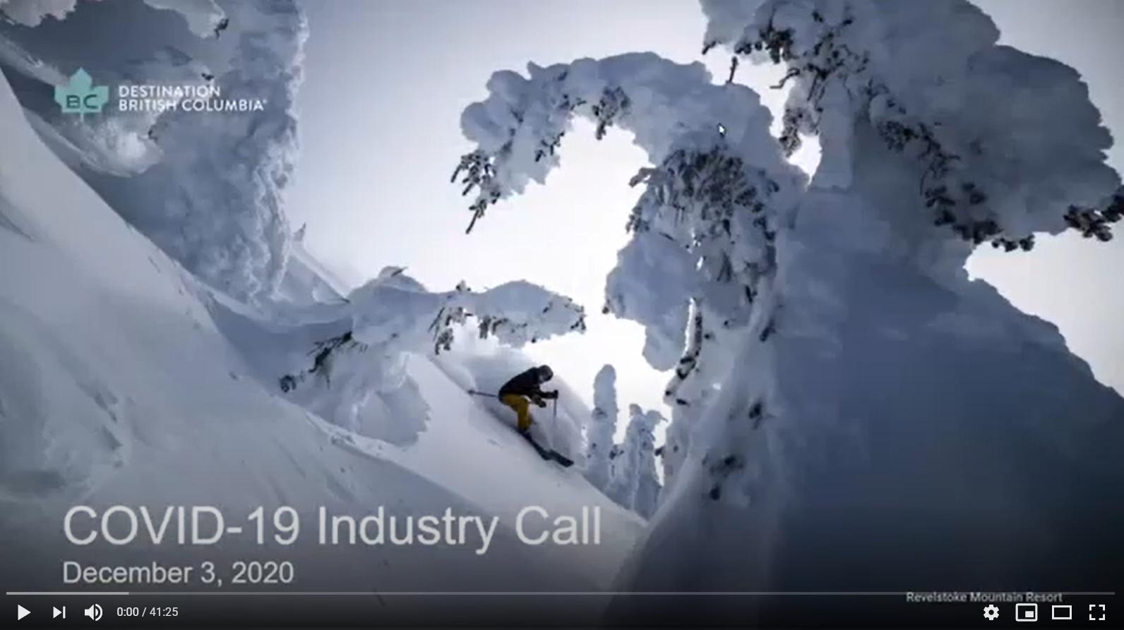 Destination BC December 3 Industry Call