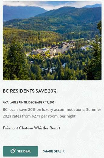 post up to three offers on HelloBC.com today, so you're ready to welcome visitors when we're able to travel again.