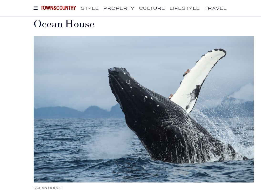 Ocean House in Haida Gwaii was featured in the UK's Town and Country Magazine.