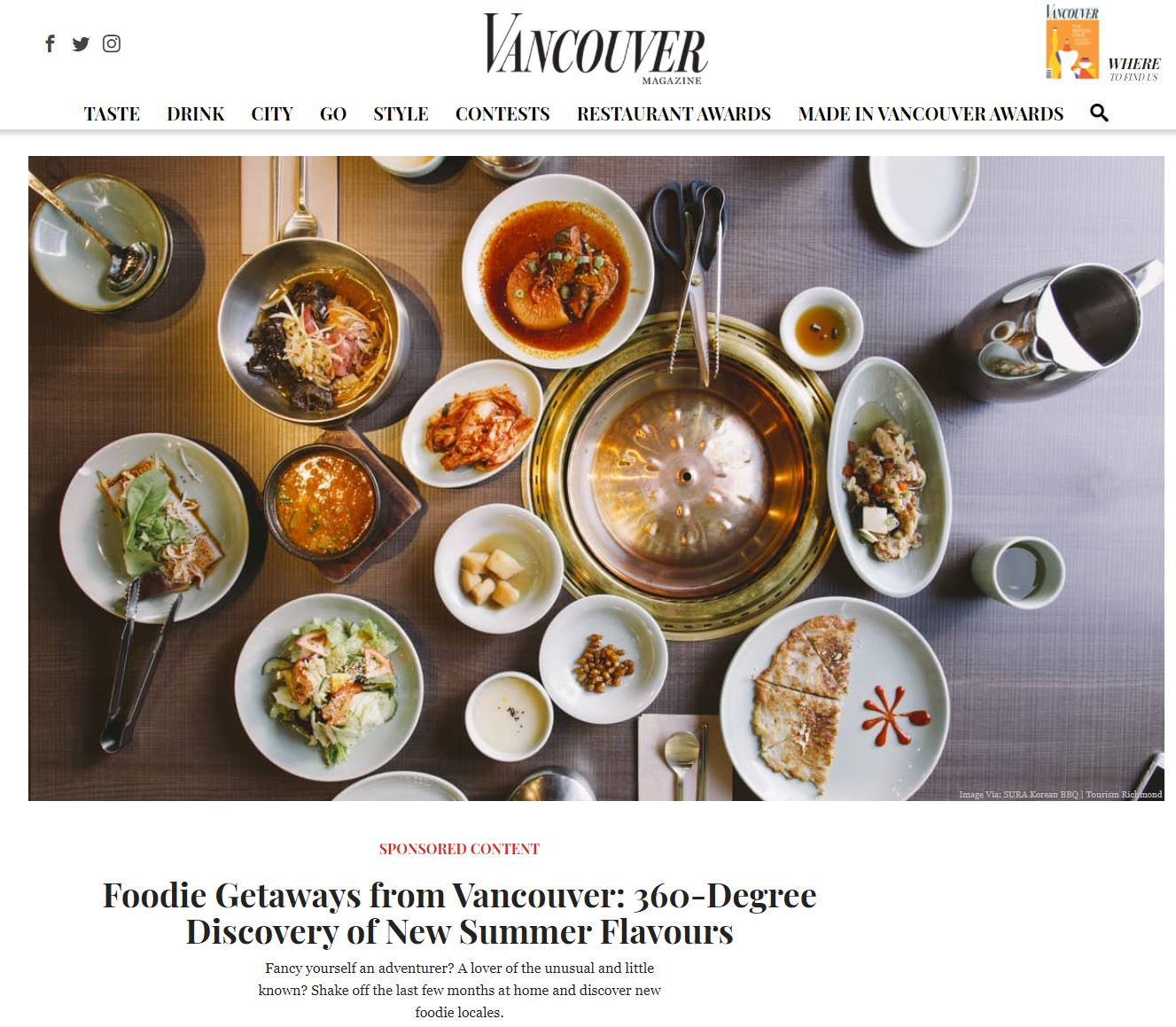 Foodie getaways from Vancouver (VanMag coverage).