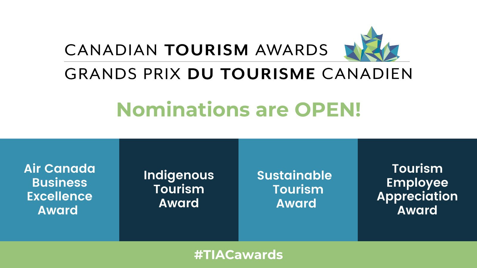 Any Canadian tourism-related product, business, initiative, event or service that occurred between June 1, 2019and July 31, 2021 is eligible.