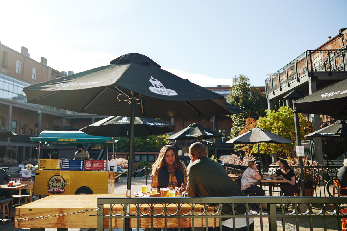 Temporary patios have been a lifeline for many businesses and workers in the hospitality sector (Destination BC/Hubert Kang).