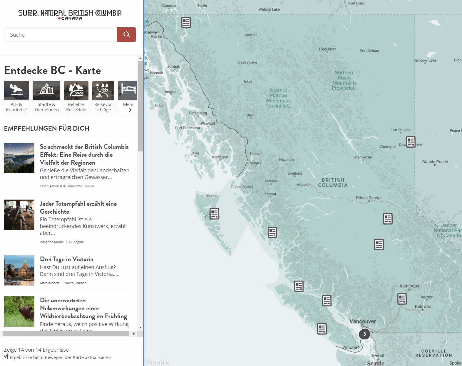 New Interactive Map on HelloBC.com