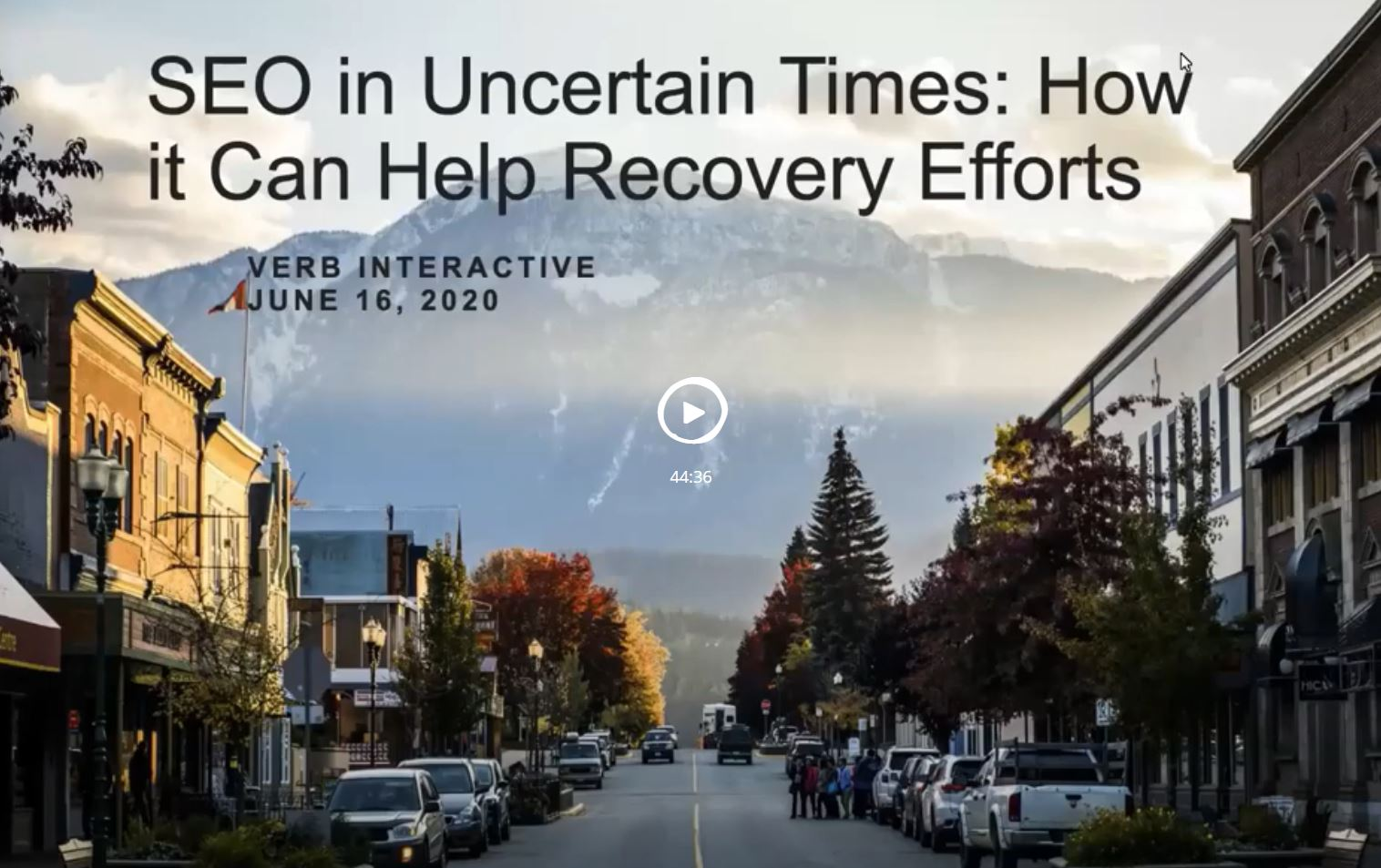 SEO in Uncertain Times: How it Can Help Recovery Efforts