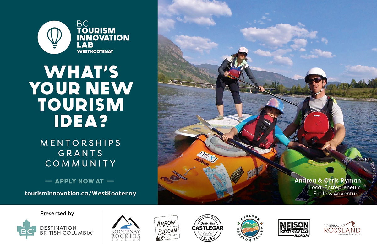 Applications are encouraged from entrepreneurs, small businesses and non-profit organizations in the West Kootenay area.