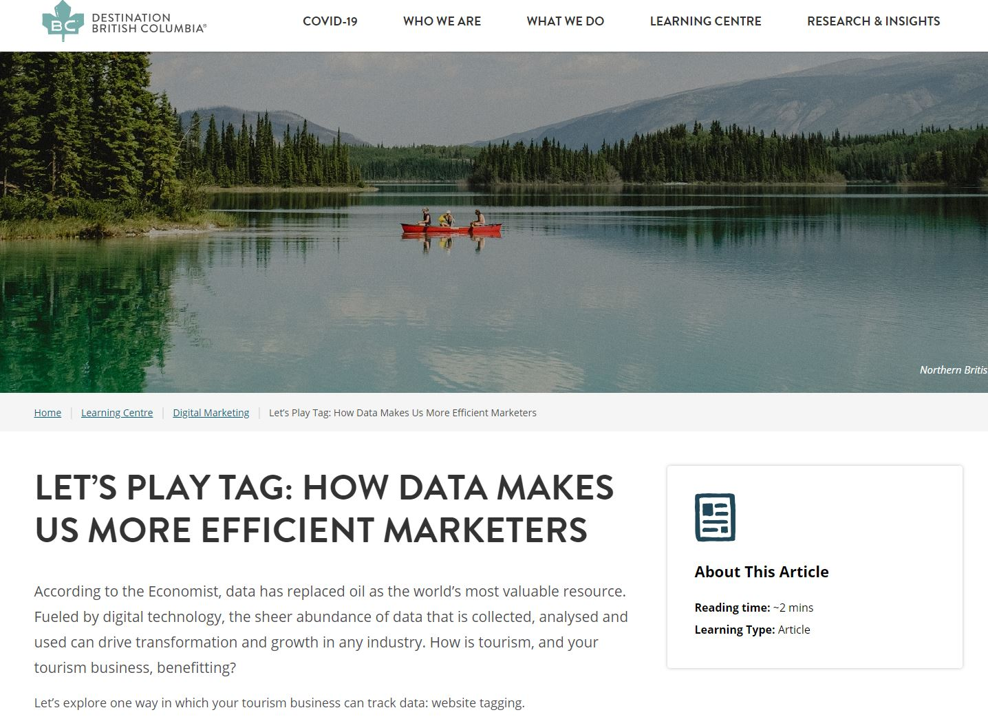 Let's Play Tag: How Data Makes Us More Efficient Marketers